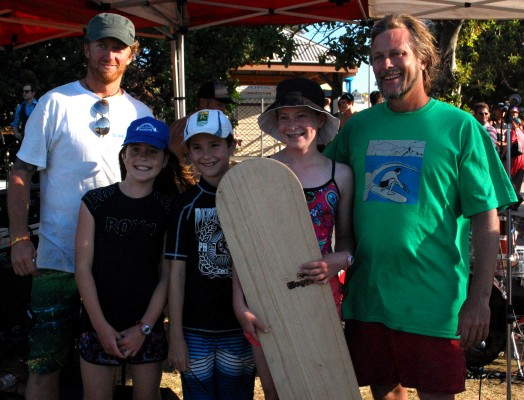 Winner of Tom Wegener Surfboards alaia