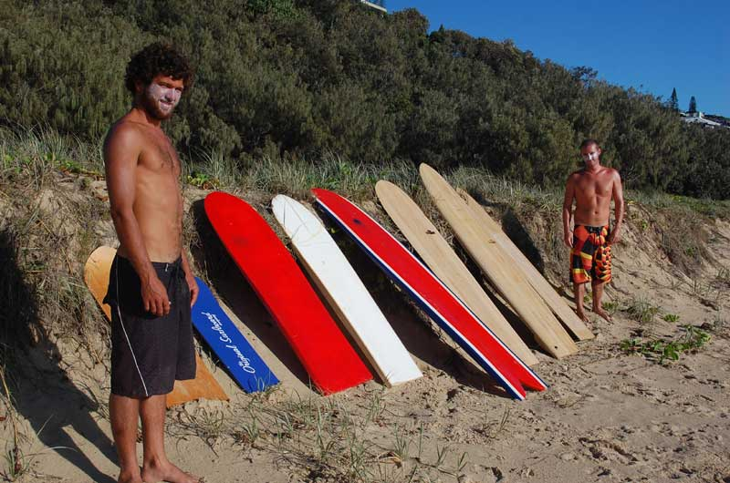 Isaac and Edwardo testing the various boards