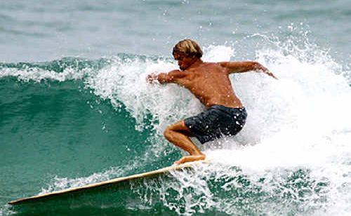 Tom with is 2005 Ancient Hawaiian quiver and Jacob Stuth surfing Alaia #1
